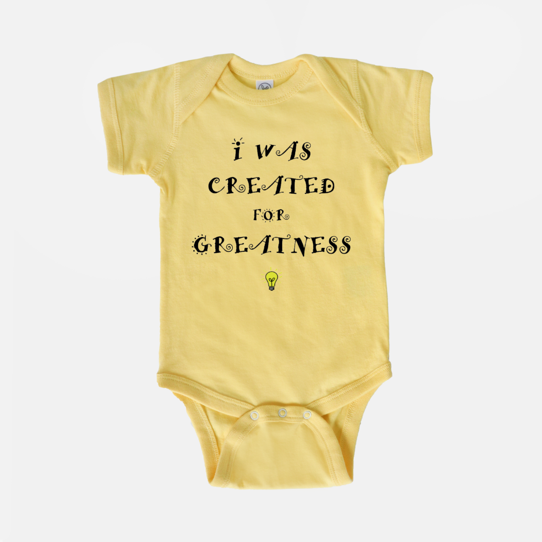 Created for Greatness Onesie (Baby & Toddler)