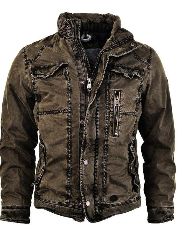Zipper Plain Thick Single-Breasted Fall Jacket