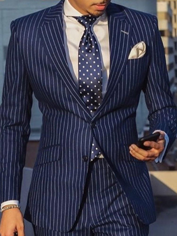 Casual Slim Notched Lapel leisure Suit