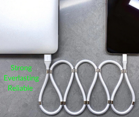 Magnetic Charging Cable USB Self Winding Absorption for iPhone/Android. Free Worldwide Shipping! LuxMo Shop Accessories/Gadgets for iPhone/Android/Smartphones