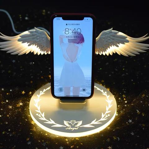 Angel Wings Wireless Charger 10W Qi for iPhone/Android/Smartphones. Free Worldwide Shipping!