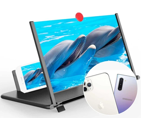 HD Phone Screen Magnifier 3D Foldable for iPhone/Android/Smartphones. LuxMo Shop Accessories. Free Worldwide Shipping.