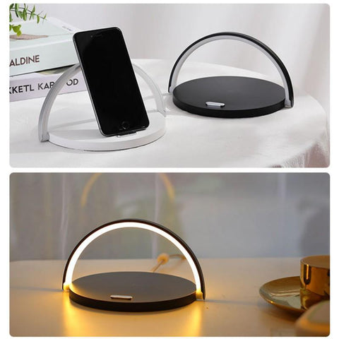 2n1 Wireless Charging Desk Lamp Night Light for iPhones/Android. LuxMo Shop Accessories/Gadgets. Free Worldwide Shipping