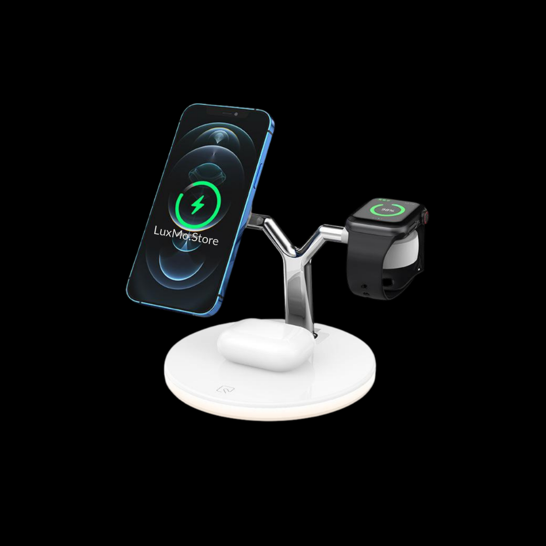 Charging Dock Station LED Light - Magnetic Wireless 15W