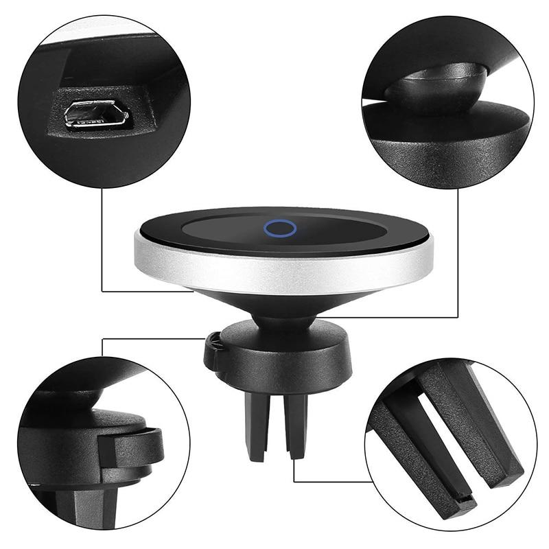 Fast Qi Wireless Charger with Magnetic Phone Holder for Car/Desk - LuxMo