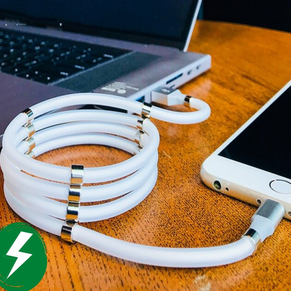 Magnetic Charging Cable 2A USB Self Winding Cable iPhone/Android/Smartphones/Accessories - LuxMo