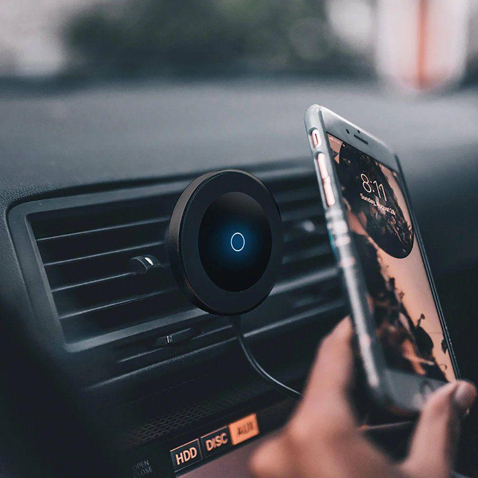 Magnetic Qi Fast Wireless Charger for Car/Desk - iPhone/Android/Smartphones - LuxMo