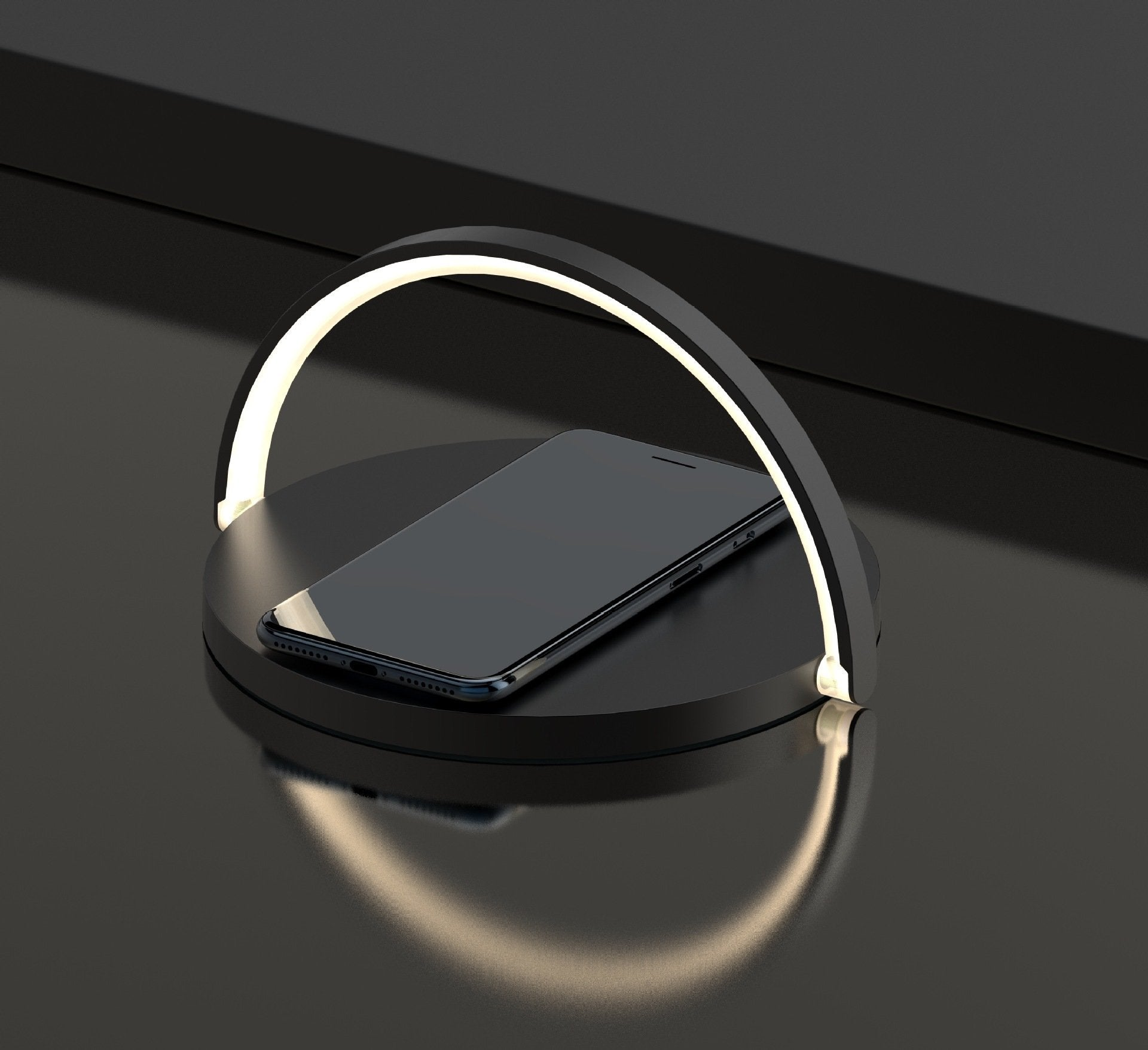 Wireless Charging Table Lamp for iPhone/Android/Smartphones - Night Light LED - LuxMo