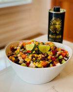Chopped Vegetable and Bean Salad with Lime Cumin Dressing