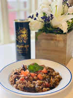 Clay Pot Eggplant and Chickpea Ragout