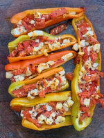 Peppers Baked with Fresh Tomatoes and Feta
