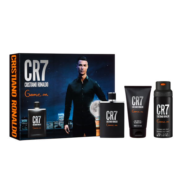 CR7 Game On 100ml Eau de toilette, Shower Gel & Body Spray Gift Set