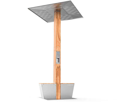 Solar panel charging point