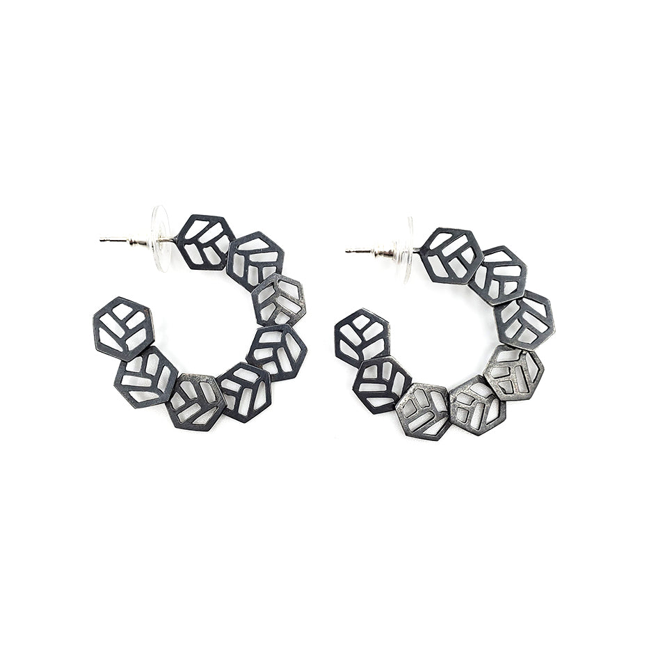 Small Hexagon Hoops