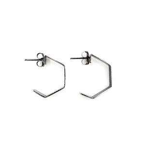 Oxidized Hex Hoops