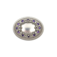 Load image into Gallery viewer, Amethyst Wreath Brooch