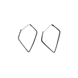 Oxidized Angular Hoops