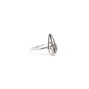 Mini Openwork Teardrop Ring