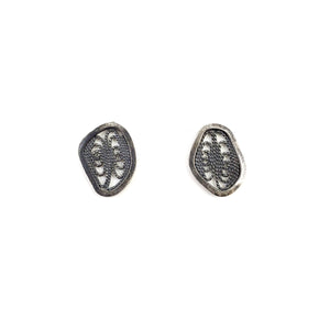 Small Silver Filigree Studs