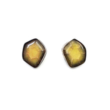 Load image into Gallery viewer, Citrine Hex-Cut Stud