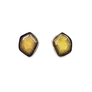 Citrine Hex-Cut Stud