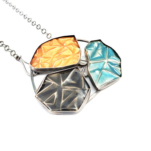 Fractured Trio - Brooch/Necklace