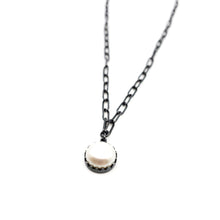 Load image into Gallery viewer, Oval Chain with Pearl Pendant