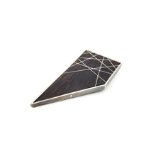 Load image into Gallery viewer, Quadrilateral Ebony Brooch with Inlay