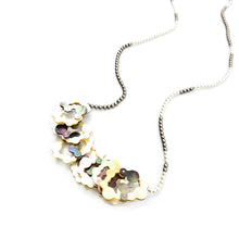 Load image into Gallery viewer, Mother of Pearl Stacked Crystal Pearl Necklace