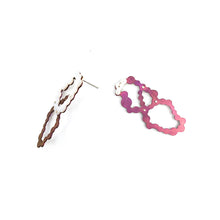 Load image into Gallery viewer, Pink Niobium Overlapped Loop Dangles
