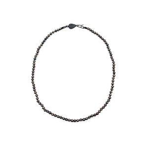 Oxidized Black Pearly Chain