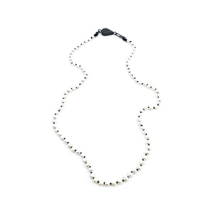 Oxidized White Pearly Chain