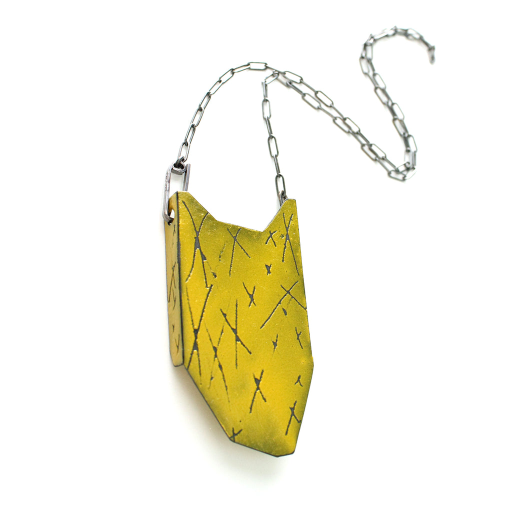Folded Pendant - Yellow