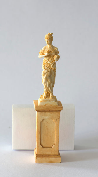 Resin 1/12th Statue on Pedestal, colour Sandstone