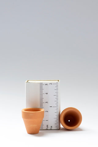 Set of 2 1/12th scale Small Terracotta Pots
