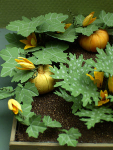 Pumpkin or Squash Paper Flower Kit  for 1/12th scale Dollhouses, Florists and Miniature Gardens