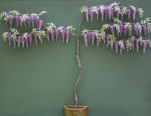 Wisteria Paper Flower Kit  for 1/12th scale Dollhouses, Florists and Miniature Gardens
