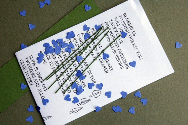 Bluebell Paper Flower kit for 1/12th Dollhouses, Florists and Miniature Gardens