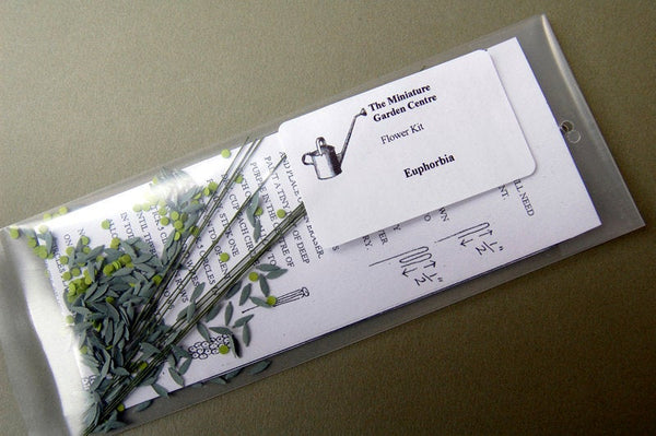 Euphorbia Paper Flower Kit  for 1/12th scale Dollhouses, Florists and Miniature Gardens