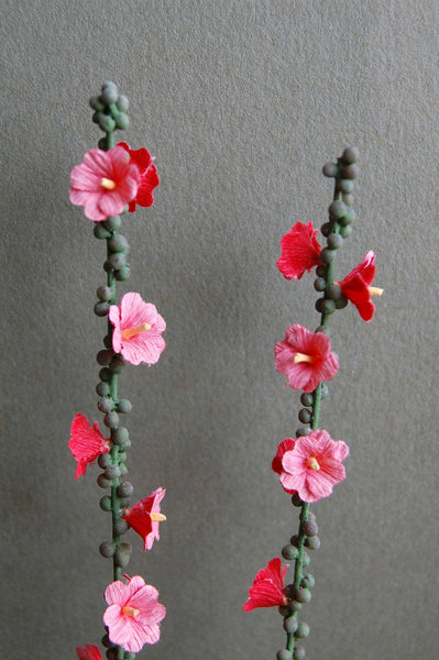 Hollyhock Paper Flower Kit  for 1/12th scale Dollhouses, Florists and Miniature Gardens