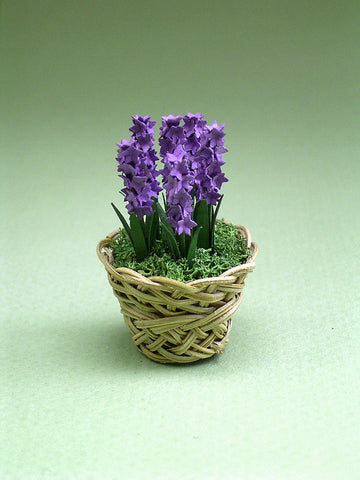 Hyacinth Paper Flower Kit  for 1/12th scale Dollhouses, Florists and Miniature Gardens