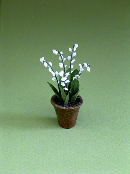Lily of the Valley Paper Flower Kit  for 1/12th scale Dollhouses, Florists and Miniature Gardens