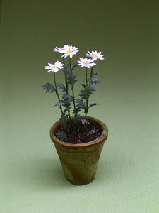 Shasta Daisy Flower Kit  for 1/12th scale Dollhouses, Florists and Miniature Gardens