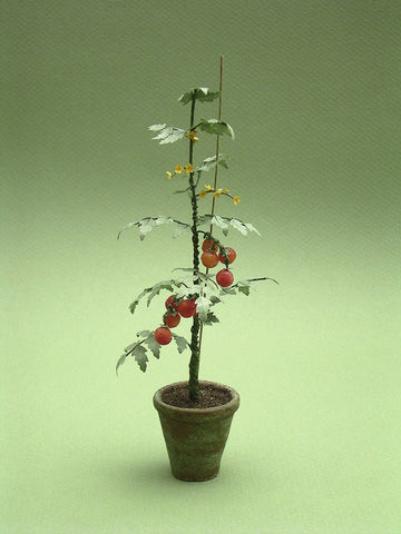 Tomato Plant Paper Vegetable Kit for 1/12th scale Dollhouses, Florists and Miniature Gardens