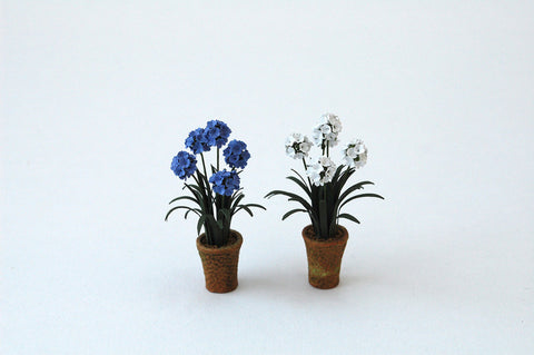 "1/24th Agapanthus Paper Flower Kit for 1/2"" scale Dollhouses, Florists and Miniature Gardens"