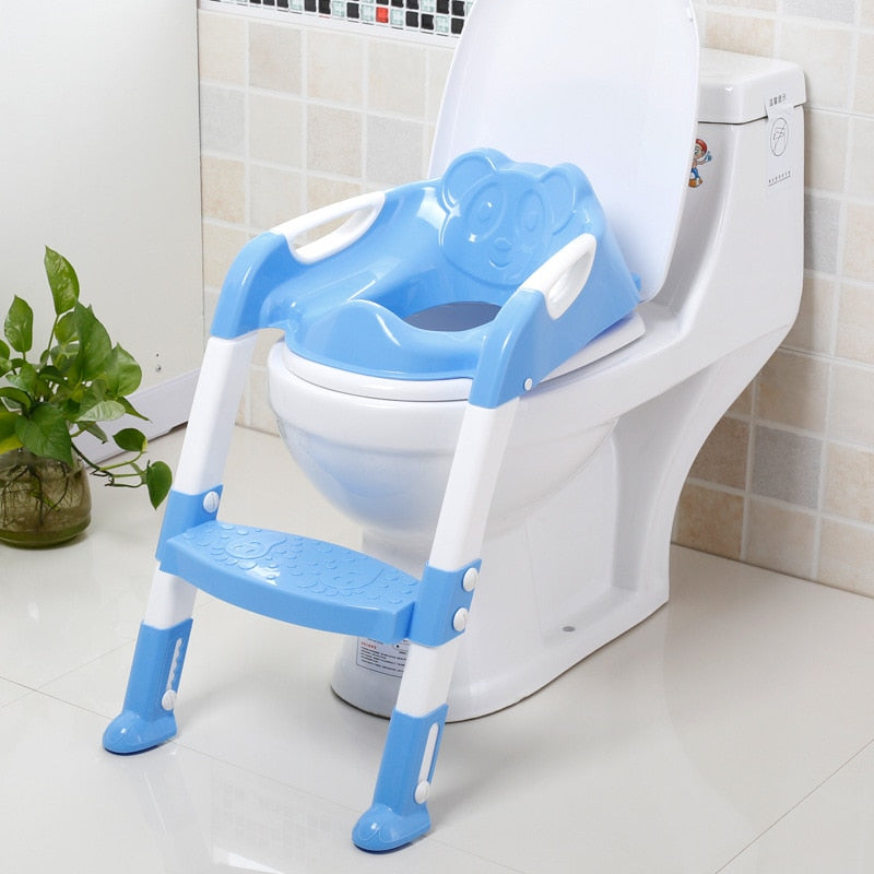Large Children's Toilet Seat Baby Chamber Pot Ladder Foldable Toilet Baby CHILDREN'S Toilet Seat