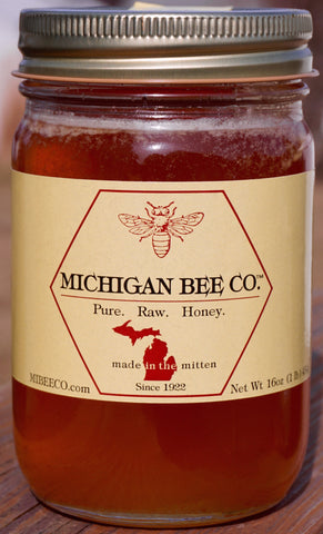 Pure Raw Honey - 12 One Pound Jars - FREE SHIPPING