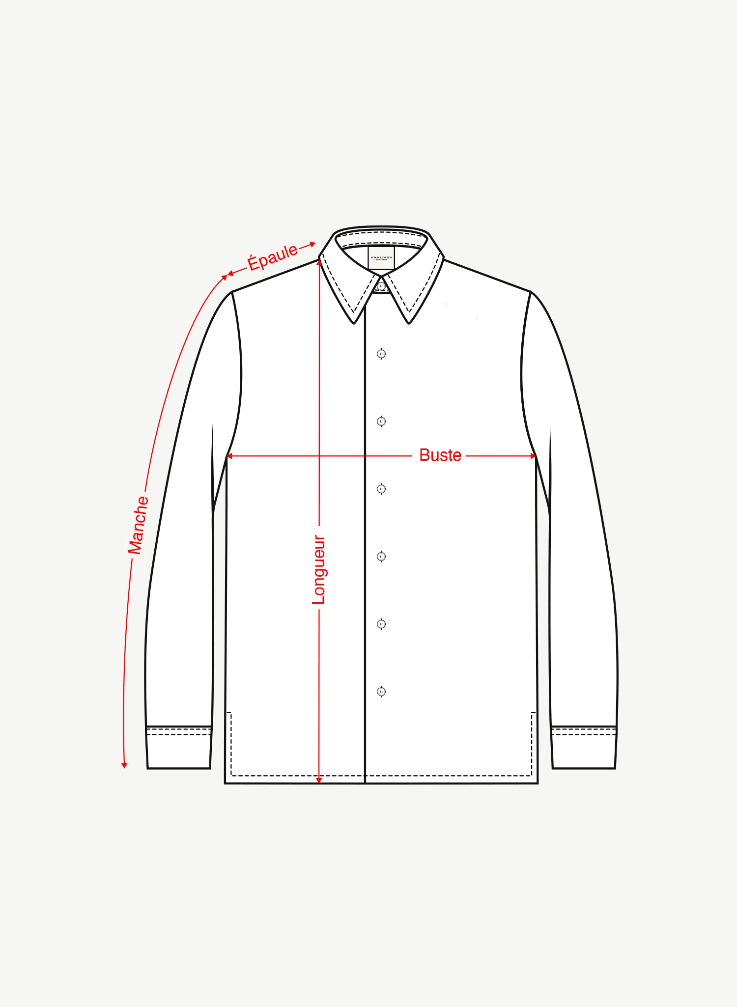 Chemise manches longues - Long sleeves shirt