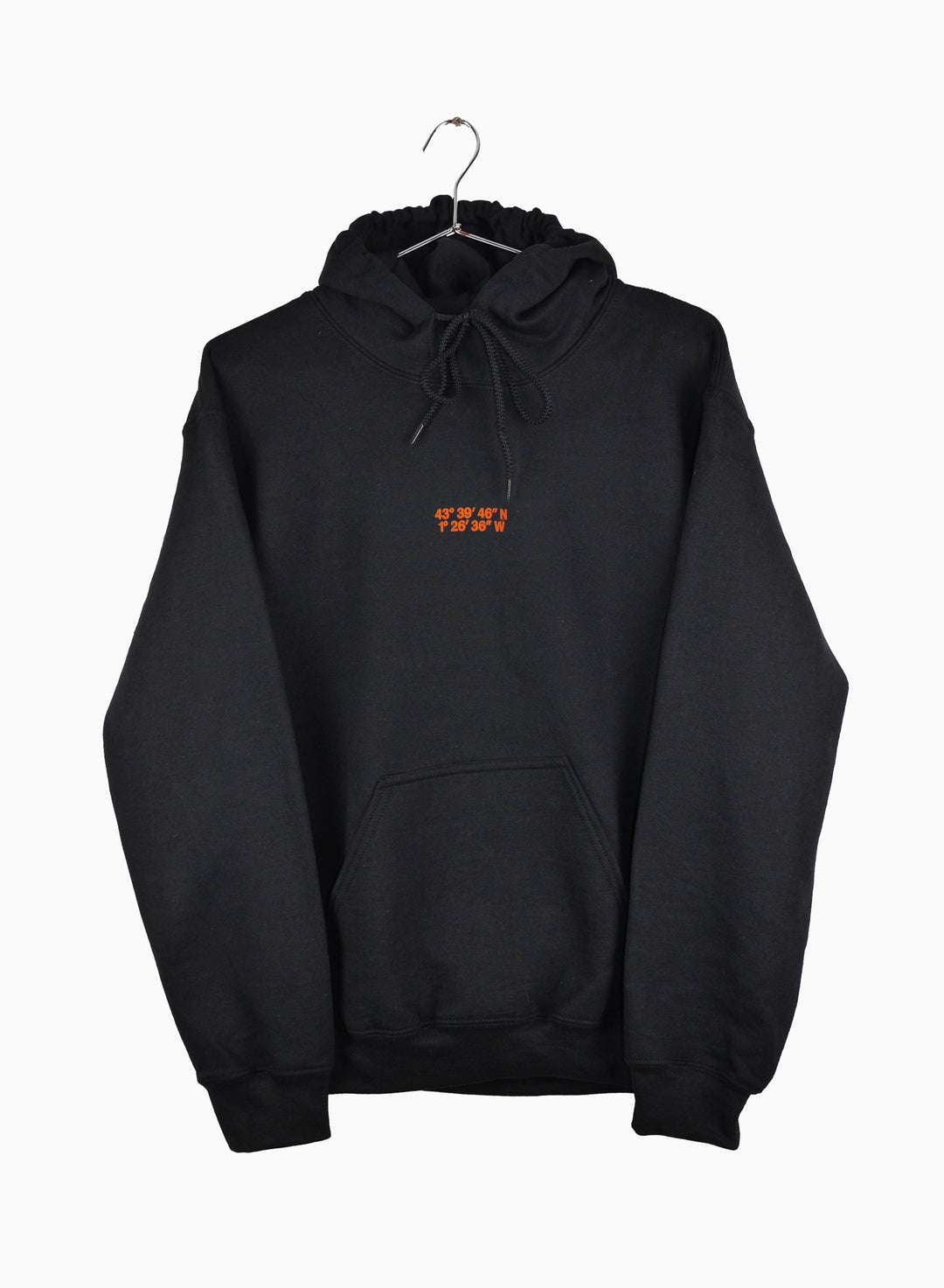 Surfin Estate coordinates logo hoodie, black