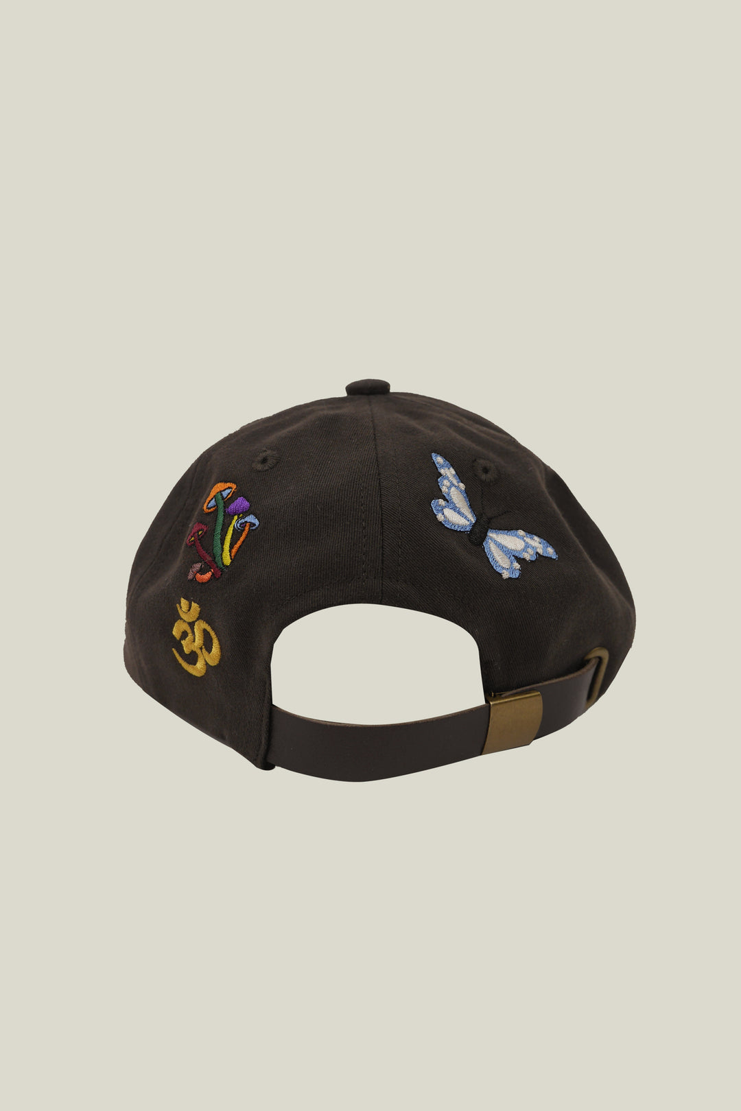 Brown cap - embroidered - Men